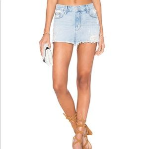 NWT Lovers + Friends Alex Denim Mini Skirt